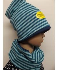 """Kepurės su mova """"Mėlynasis dryžiukas"""""""