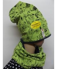 """Kepurės su mova """"Žaliasis žemėlapis"""""""